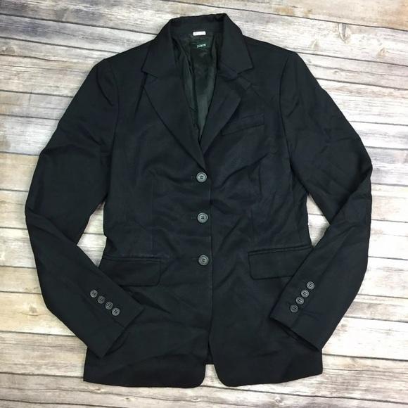 J. Crew Jackets & Blazers - J. Crew 3 Button Blazer Wool Suit Jacket Medium